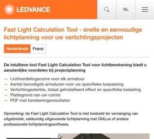 Ledvance Fast-Light-Calculation-Tool