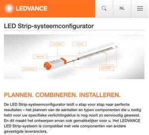 Ledvance LED Strip-systeemconfigurator