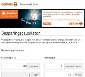 Ledvance Osram Lampen Besparingscalculator